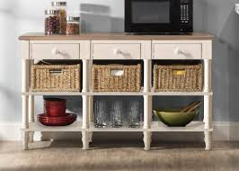 Sofa Table With Drawers Hillsdale Seneca 3 Drawers Sofa Table With 3 Baskets Driftwood