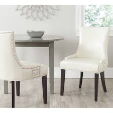 Safavieh Dining Room Chairs by Safavieh En Vogue Dining Becca Cream Leather Dining Chair Free