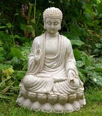 sitting thai buddha garden statue buddhist