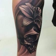 skulls with orchid tattoo ideas tattoo designs