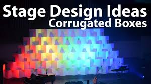 church backdrops church stage design ideas corrugated boxes