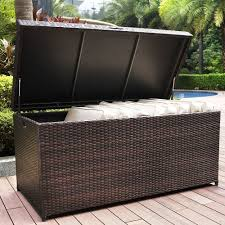 Home Decorators Outdoor Cushions by Amazon Com Crosley Furniture Palm Harbor Outdoor Wicker Storage