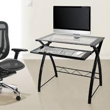 Black Glass L Shaped Computer Desk by Atrium Metal And Glass L Shaped Computer Desk Multiple Colors