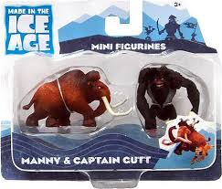 ice age continental drift manny captain gutt mini figure 2 pack