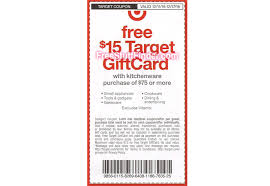 5 gift card hot free 15 gift card with kitchenware purchase at target