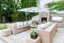 Backyard Fireplace Ideas Outdoor Fireplace Ideas Transitional Deck Patio Fleming