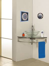 23 Inch Bathroom Vanity Small Bathroom Glass Wall Mount Vessel Sink Vanity Combo Set