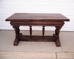 antique draw leaf table draw leaf table etsy
