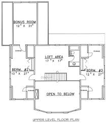 Bungalow With Loft Floor Plans by Bungalow Style House Plan 3 Beds 2 50 Baths 2600 Sq Ft Plan 117 546