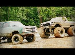 monster trucks videos in mud big trucks u003c3 you know your a country when trucks turn your