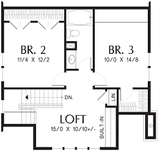 bungalow style house plan 3 beds 2 5 baths 1777 sq ft plan 48