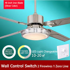 48 Inch Ceiling Fan With Light 48 Inch Led Ceiling Fan Light With Wall Switch Luminous