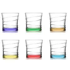 bicchieri design lav design 6 pz bicchieri acqua in vetro di alta qualit縲 succo