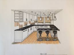kitchen drawing perspective with kitchen drawing perspective