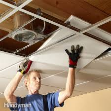 Ceiling Tile Installation Drop Ceiling Tiles Installation Tips Family Handyman