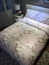 Double Duvet Set Bird Print Bedding Set Sheets Duvet Cover Bed Linen Floral