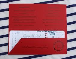 Cruise Wedding Invitations Red U0026 Blue Swirl Yacht Cruise Boarding Pass Wedding Invitations