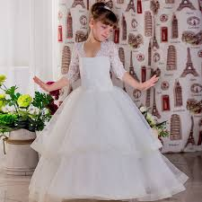 simple communion dresses new lace gown flower dresses simple kids wedding