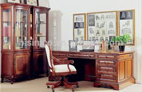 Antique Home Office Furniture by Antique Classic Style Office Desk Glass Door Bookcase Display