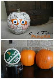 halloween duct tape pumpkins and duck tape stickortreat a and a glue gun