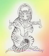 tiger tattoo by iris cougar on deviantart