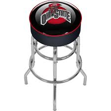 trademark ohio state university logo 31 in chrome padded swivel