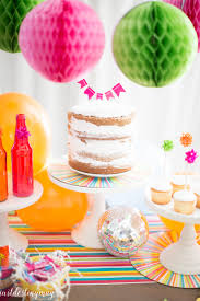 celebrate colorful summer birthday party ideas just destiny