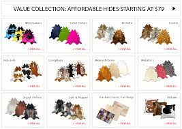 Animal Skin Rugs For Sale Colored Cowhide Rugs Roselawnlutheran