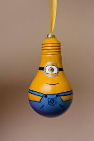 minion bulb ornament by sewcharmingcrafts on etsy 7 00