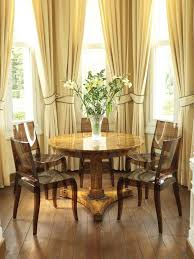 Chair Tie Backs Stunning Dining Room With Sleek Brown Chair And Round Table And