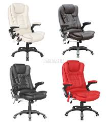 Luxury Swivel Chair by Foxhunter 6 Point Massage Office Computer Chair Luxury Leather
