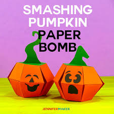 Smashing Pumpkins Halloween - smashing pumpkin paper bomb tutorial jennifer maker