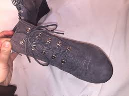 s heel boots size 11 laundry s gray lace up suede wedge ankle boots size