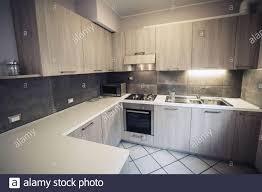 corner kitchen cabinet furniture modern corner kitchen furniture composition stock photo alamy