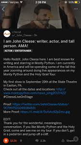 sir john cleese shares what he thinks is the greatest joke ever on