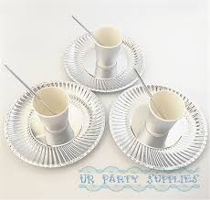 aliexpress buy 20 sets tableware solid silver foil paper