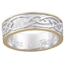 celtic wedding ring sterling silver two tone engraved celtic wedding band 5823446 hsn
