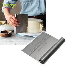 cutter de cuisine delidge 1 pc en acier inoxydable pâte à pizza scraper cutter cuisson