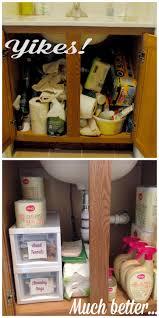 under the bathroom sink organization with ology