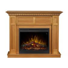 Electric Fireplace With Mantel Dimplex Wilson 50 In Freestanding Electric Mantel In Rift Oak