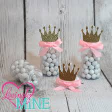 little princess baby bottle favors in baby pink u0026 glitter gold