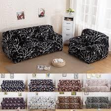 housse de canap noir noir imprimé spandex stretch housse de canapé housses meubles
