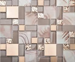 stainless steel mosaic tile backsplash glass blend metal mosaic kitchen backsplash tile ssmt113 gold