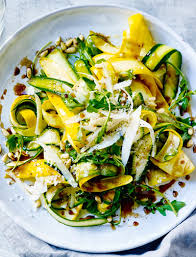 cuisin courgette balsamic courgette pine nuts and parmesan salad sainsbury s magazine