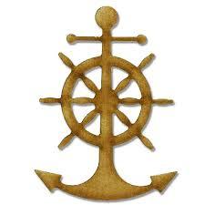 anchor ships wheel style 3 mdf wood shape