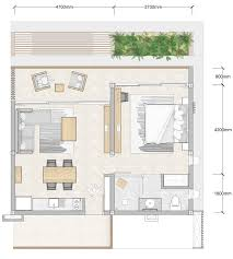 1 bedroom floor plan bay apartments by bay residence koh phangan