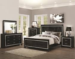 Bed Sets Black Bedroom Volare King Size Modern Black Bedroom Set 5pc Made In