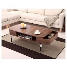 kathrine mid century inspired storage coffee table walnut homes