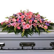 how to make a casket spray pink lavender casket spray