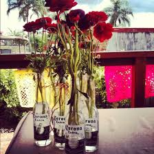 Beer Centerpieces Ideas by Corona Bottle Vases Mexican Party Party Planning Pinterest